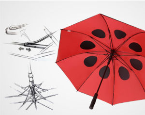 Black Rubber Straight Umbrella pictures & photos
