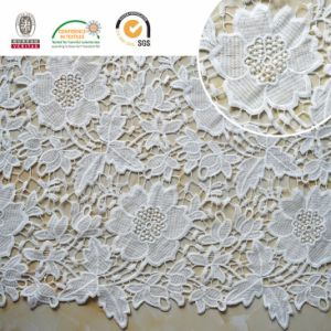 Lace Fabric with Peony Pattern, Newest and Fashion Design, Popular and Soft 2017 E20043 pictures & photos