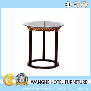 Leisure Rattan Furniture Coffee Table with Glass pictures & photos