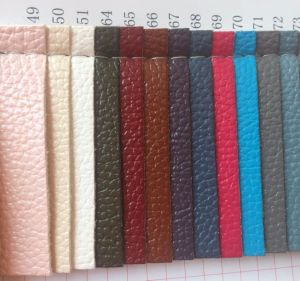 Synthetic Lychee PU Leather for Handbag Wallet Making pictures & photos