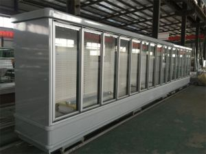 Electricity Power Source and New Condition Glass Door Refrigerator pictures & photos