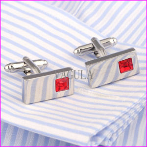 Fashion Red Diamond Silver Plating Copper Cuff Link pictures & photos