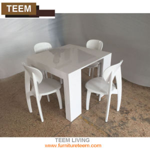 Birch Wood Extendable Dining Folding Table pictures & photos