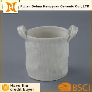 Ceramic Basket design with Handle Plant Pots pictures & photos