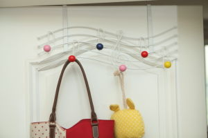Metal Clothes Rack Hook Painted Solid Wood Balls pictures & photos