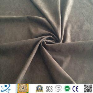100% Polyester Knitting Velvet Home Textile Fabric Plain Dyed Brush Velvet Cover Fabric Velvet Pearl Toy Fabric pictures & photos