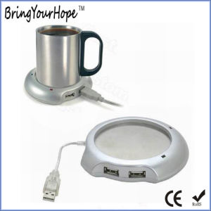 Mini USB Cup Warmer with 4-Port Hub (XH-UWH-001) pictures & photos