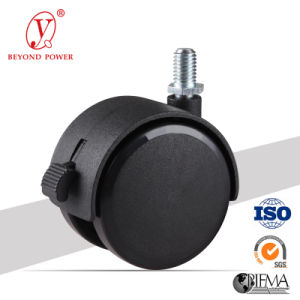 40mm Black Color Office Chair Locking Nylon Ball Casters Caster with Brake, Cabinet Screw Caster  pictures & photos