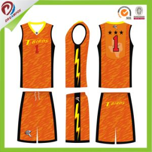 Custom Sublimated Reversible Basketball Uniform/Basketball Jersey and Shorts pictures & photos
