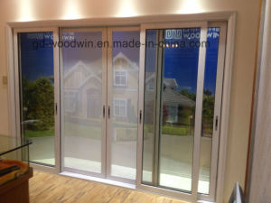 New Design Double Tempered Glass Aluminium Sliding Door pictures & photos