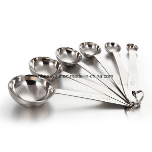 Measuring Spoons, Hard Crafts Best Metal Measuring Teaspoons Stainless Steel for Cooking Baking - Set of 6 Includes (0.6ml, 1.25ml, 2.5ml, 5ml, 7.5ml, 15ml) pictures & photos