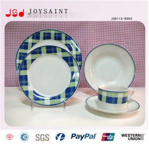 Simple Design Custom Logo Porcelain Tableware Plate for Home Use pictures & photos
