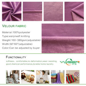 100%Polyester Super-Soft Velour Fabric for Trendy Apparels pictures & photos