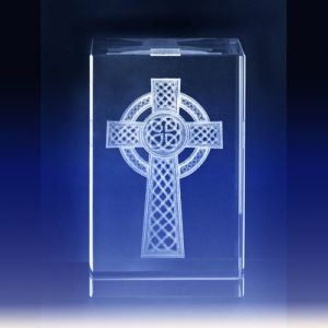3D Laser Engraved Crystal Cross Cube for Christian Gift pictures & photos
