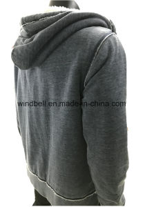 Warm and Comfortable Hoody for Men with Burn-out pictures & photos