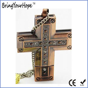 Bronze Cross Style Jesus USB Flash Stick (XH-USB-100S) pictures & photos