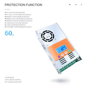 MPPT 60A 12V/24V/36V/48V Sealed Gel or NiCd-Li-Battery Solar Controller/Regulator MPPT-60A pictures & photos