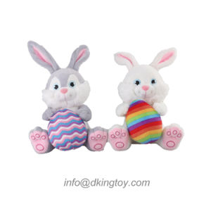Easter Rabbit with Egg Plush Toy Party Gift pictures & photos