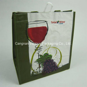 PP Woven Wine Packaging Bag, Prmotional Tote Bag, Canvas Shopping Bag (MX-BG1073) pictures & photos