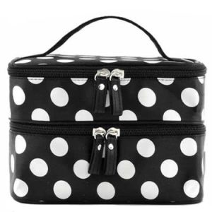 Generic Fashion Cute Lady′s Makeup Case Double Layer Cosmetic Hand Bag pictures & photos