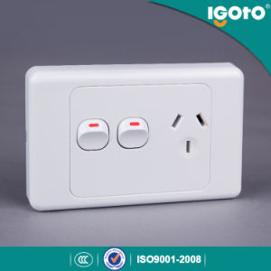 Igoto SAA Approval Australian Standard Single Powerpoint Wall Switched Socket pictures & photos