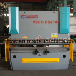 Wd67k 100t/3200 Electrohydraulic Servo CNC Bending Machine for Bending Carbon Steel pictures & photos