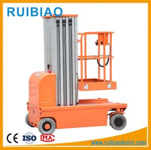 Full Electric Mobile Portable Aluminum Alloy Man Lift Platform/Aluminum Lift pictures & photos