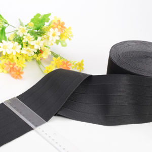 Wide Black Heavy Knit Waistband Elastic pictures & photos