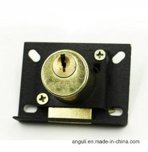 Metal Antique Brass Drawer Lock pictures & photos