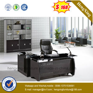 Chinese Office Furniture Glass Top Metal Executive Office Desk (NS-ND136) pictures & photos