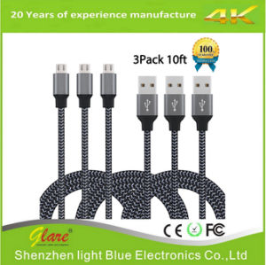 High Speed Nylon Braided USB 2.0 Charge Cable pictures & photos