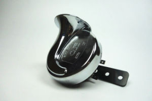 Motorcycle Snail Horn with 12V/4ah/410Hz/110dB/Chrome Color/Nylon Material pictures & photos