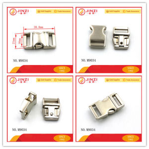 Good Quality Metal Adjustable Push Lock for Bags/Belt M9034 pictures & photos