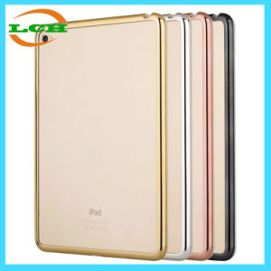 Electroplating Frame Clear Back Cover Case for iPad/iPad PRO pictures & photos