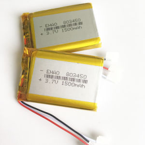 3.7V 1500mAh 803450 Lithium Polymer Battery pictures & photos