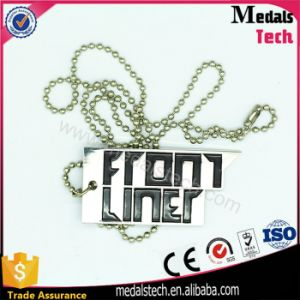 High Quality Silver Letter Color Filled Pendant Dog Tags pictures & photos
