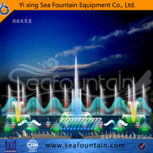 Wooden Package Music Lake Floating 3D Nozzle Fountain for Enjoy pictures & photos