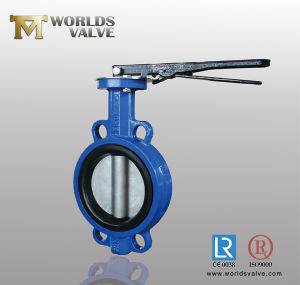 Lever Operated Wafer Butterfly Valve with Double Half Shaft (D71X-10/16)