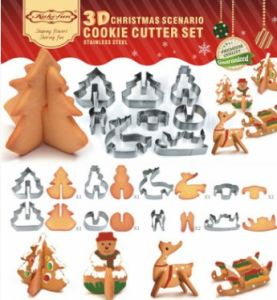 Wholesale Stainless Steel Baking Tools Cookies Mold 8 PCS 3D Christmas Cookie Cutter Set pictures & photos