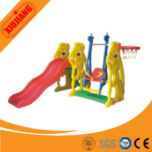 2016 Plastic Kids Outdoor Playground Slide with Swing pictures & photos