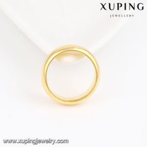 11216 Fashion Simple 4mm 24k Gold Polish Couple Ring pictures & photos