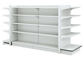 Good Quality Metal Punched Holes Supermarket Display Shelf Shelves (yy01) pictures & photos
