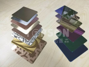 201 304 Mirror Decorative Color Stainless Steel Plate for Decoration