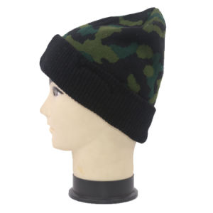 Customzied OEM Winter Knitted Hat Camo Beanie pictures & photos