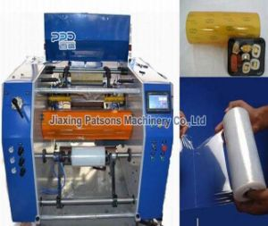 China Manufacturer Fully Automatic Dotted Cling Film Winder Machinery pictures & photos