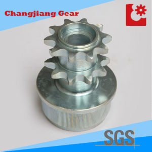 White Zinc Industrial High Quality Double Hub Roller Chain Sprocket pictures & photos