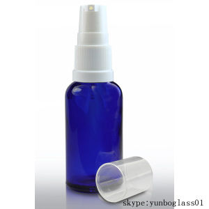 50ml Cobalt Blue Cosmetics Glass Bottle with Lotion Pump pictures & photos
