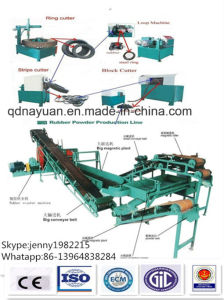 Semi-Auto Waste/Used Rubber Tire Recycling Line with Cheap Price pictures & photos