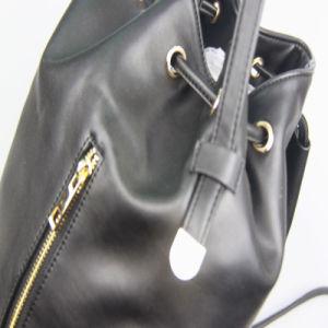 Girls Black Fashion PU Backback Fashion School Backpack Supplier pictures & photos
