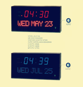 Acrylic Mateiral Large LED Digital Count Down Wall Clock for Office and Home pictures & photos
